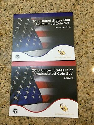 2013 United States Mint Uncirculated Coin Set ~ 28 Coins Philadelphia & Denver
