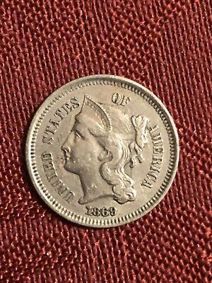 1869 3 Cent Nickel