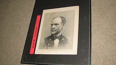 UNION GEN. WILLIAM TECUMSEH SHERMAN - Engraving from a Newspaper during War-time