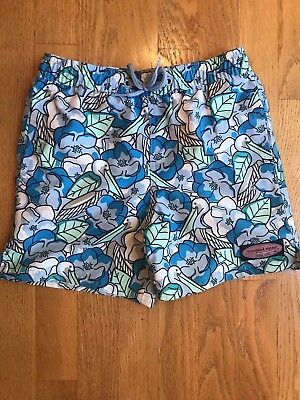 EUC Vineyard Vines Boys Pelican Magnolias Chappy Trunks Blue Size 6