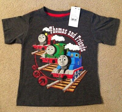 NWT Toddler Thomas The Train & Friends T-Shirt Size 2T Short Sleeve Grey