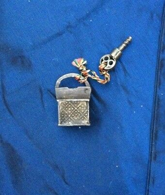 Antique Lock And Screw Key Collectible Small