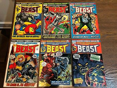 Amazing Adventures #12-17 Furry Beast Lot Of 6 Marvel Comics Fn