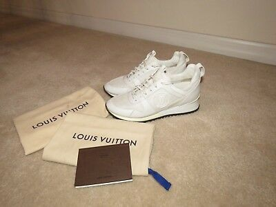 0f7dd599aa49 Louis Vuitton Run Away Sneakers Trainers Pure White Women s 37.5 7.5 Very  Rare