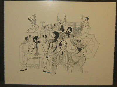 Original ABE HIRSCHFELD 'Ragtime' Theater Signed LIMITED EDITION LITHOGRAPH