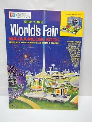 "The Official 1964 1965 New York World's Fair Punch Out Book ""Excellent Condition"