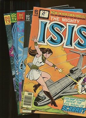 The Mighty Isis 1-5 *5 Books* 1976-77 DC Comics! Based on CBS TV-show! Vosberg!