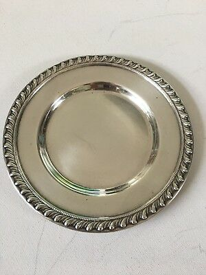 "Sterling Silver Bread Plate 6 1/2"", 108 grams"