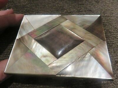 Vintage Abalone and Mother of Pearl Cigarette Case Excellent Condition