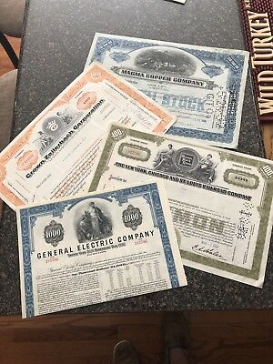 Old Stock Certificate Lot