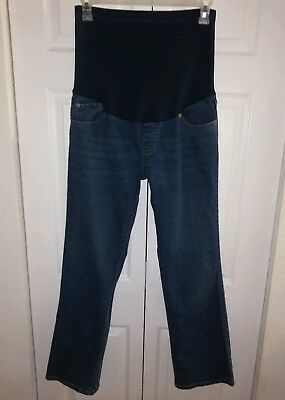 "Excellent Condition LIZ LANGE Maternity Sz 12 /31"" inseam Full Belly Panel Jeans"