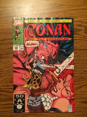 Conan The Barbarian #242 NM-Jim Lee Classic Cover Red Sonja 1991
