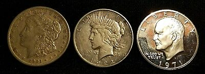 Silver Dollar Coin Lot Morgan Peace Proof Eisenhower