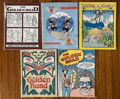 RARE LOT The Golden Road Magazine 1 2 3 4 5 1984 Grateful Dead Jerry Garcia 1985