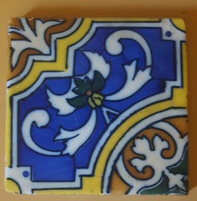 Vintage 6x6 Decorative Ceramic Tile - No markings -