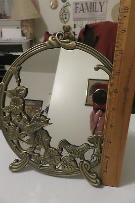 hummingbird framed mirror. Beautiful in excellent used condition.