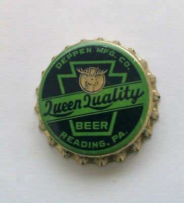 1940's Reading Pennsylvania Deppen Brewing Beer Ale Cork Cap Crown Queen Quality