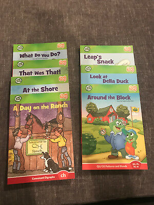 Leap Frog~Tag Reader Books~Interactive Reading System~Consonant Digraphs~Blends