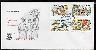 ANTIGUA AND BARBADS 1985 75th ANNIVERSARY OFGIRL GUIDES FIRST DAY COVER