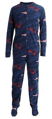 Brand New - New England Patriots Unisex Grandstand Footed Union Suit - Pajamas