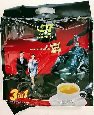Local Original Trung Nguyen G7 Instant Coffee 3 in 1 Coffeemix 50 sachets x 16g