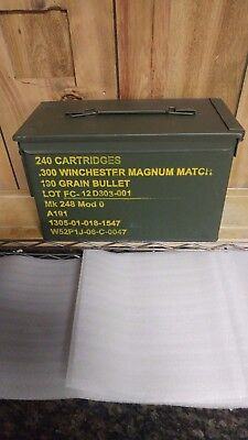 WINCHESTER 300 MAG. MILITARY AMMO BOX,CAN  (M2A1) 50 cal.style. SOLD EMPTY