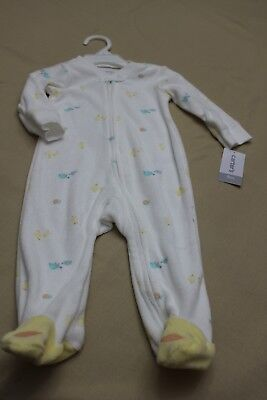 a5f7533f8783 NEW CARTERS SLEEPWEAR Boy Baby one piece cotton footed pajamas blue ...