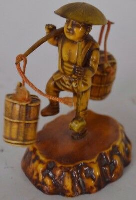 Vintage Chinese Figure Japan Man Carrying Water #2 Asian Oriental