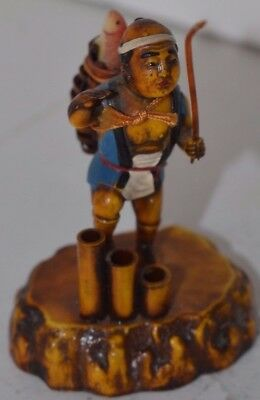 Vintage Chinese Figure Japan Fishing Fisherman Asian Man