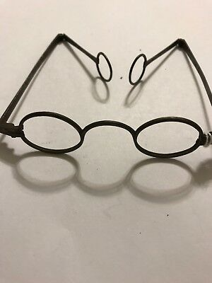 Antique Eyeglasses Temples Fold W/ Loops.   Early 1800's.   44