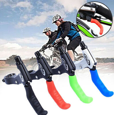 C5F0 1 Pair Cycle Bicycle Bike Brake Lever Grip Protectors Handle Rubber Covers