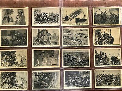 1914-1918 Heroic Deeds of the Great War x17 cigarette cards. 76A