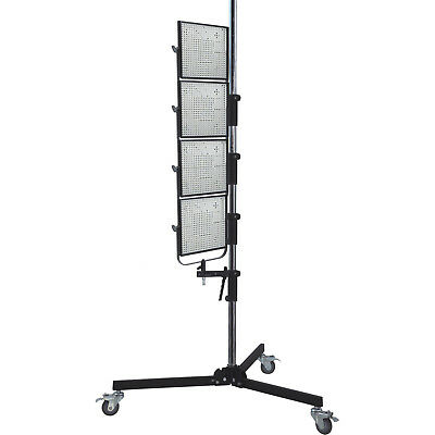 """87"""" Wheeled Roller Light Stand for Photo Studio w/ Adjustable Height Lamp Mount"""