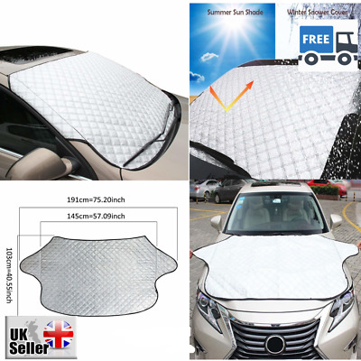 Car Windscreen Frost Cover Snow Windshield Ice Dust Sun Shade Protector Large UK