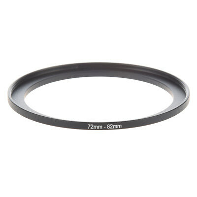 Camera Parts 72mm to 82mm Lens Filter Step Up Ring Adapter Black A4E5