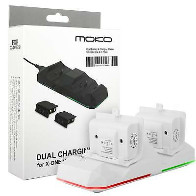 MoKo for Xbox One/One S/X/Elite Controller Rechargeable Battery Packs 2 x 600mAh