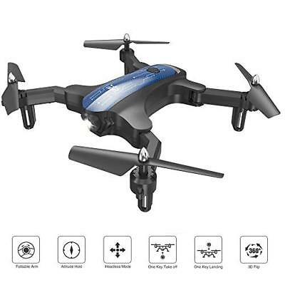 ScharkSpark Drone for Beginners, Portable RC Mini Quadcopter with Foldable Arms