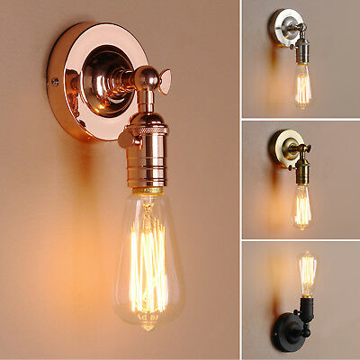 Retro Industrial Lampholder Sconce Antique Up Down Wall Light Edison Flushmount
