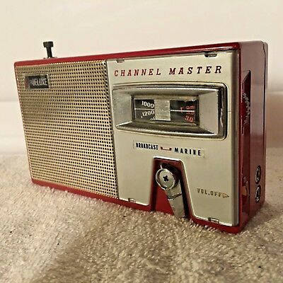 Vintage Channel Master 8Tr Deluxe Bc Marine Transistor Radio 6514  Leather Case