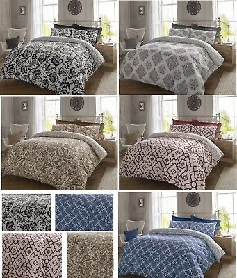 Duvet Cover With Pillow Case Quilt Cover Bedding Set Double King Super King Size