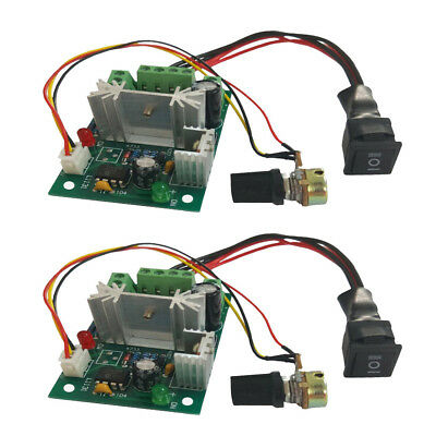 2PCS DC 6A Motor Speed Control PWM Controller Reverse Switch DC 6V 12V 24V