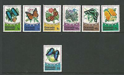Butterfles set of 7 All MUH/MNH Except the 35c which is Used