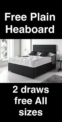ORTHOPEDIC DIVAN BED SET WITH MATTRESS AND HEADBOARD 3FT 4FT6 Double 5FT King