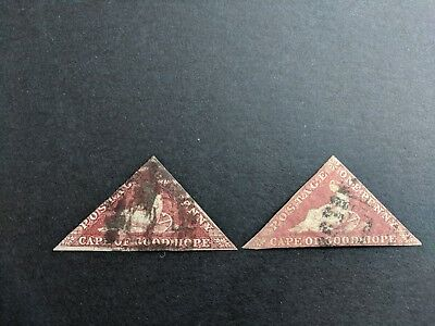 Cape Of Good Hope Triangle Stamps (pair of)