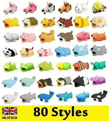 Cartoon Animal Cable Phone Charger Protector Soft Cord Accessories Bite Cute UK