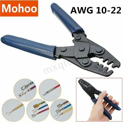 Double Terminal Crimper Auto Electrical Crimping Tool Wire Stripper Plier Cutter