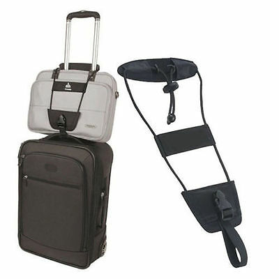 one size Black Bag Bungee Strap Luggage Backpack Carrier Unisex Travel Helper