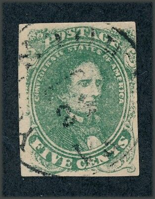 drbobstamps US CSA Scott #1 Used Confederate Stamp (See Description)
