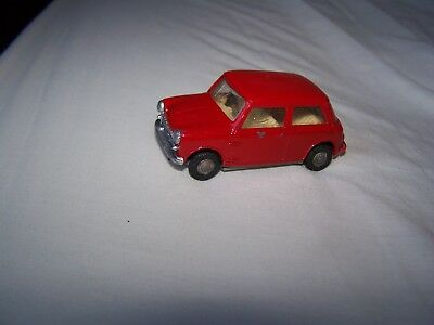 Vintage Tri-ang Spot-on 1:42 Scale Austin seven mini Repaint Red for restoration