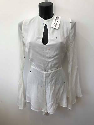 BNWT Wildfox PLAYSUIT IN WHITE , STARS   rrp £250    size small